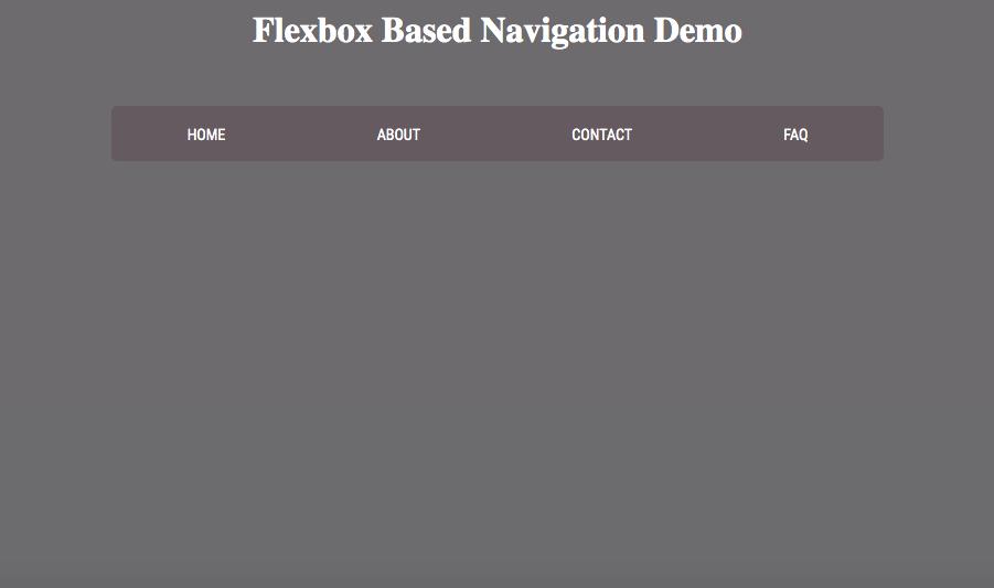CSS Flexbox Based Responsive Navigation