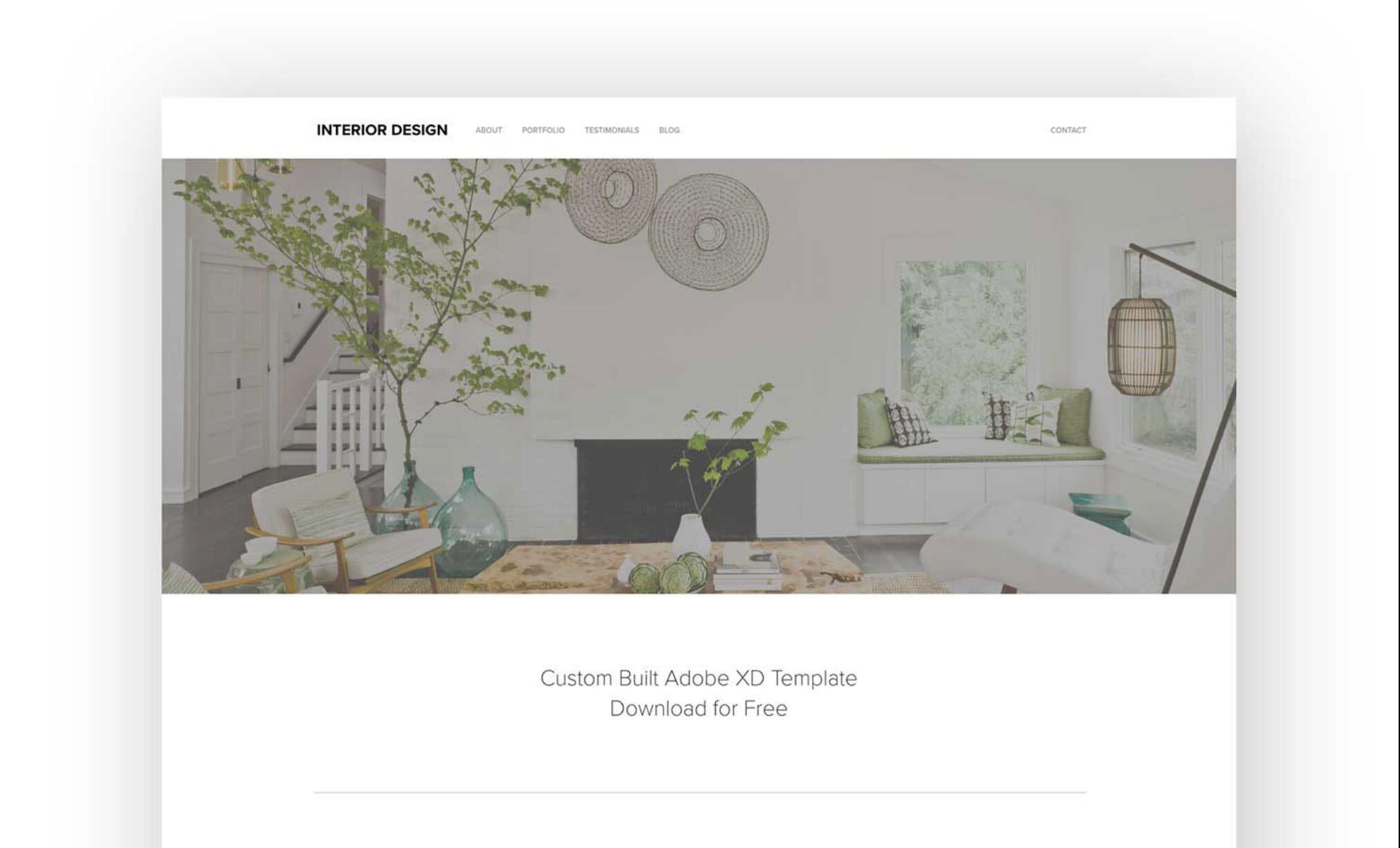 Free Responsive Adobe XD Web Template
