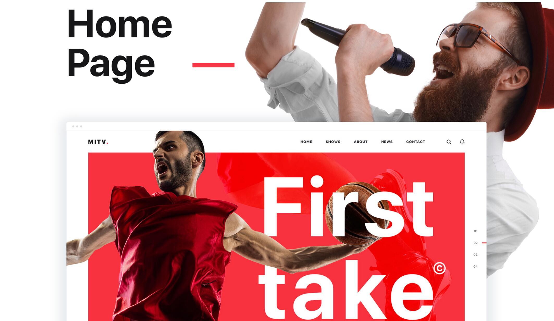 MITV – Free Responsive Website PSD Template