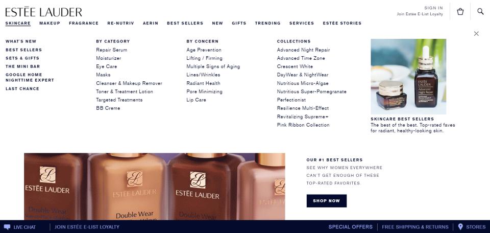 mega-menu-examples-Estee-Lauder-image2