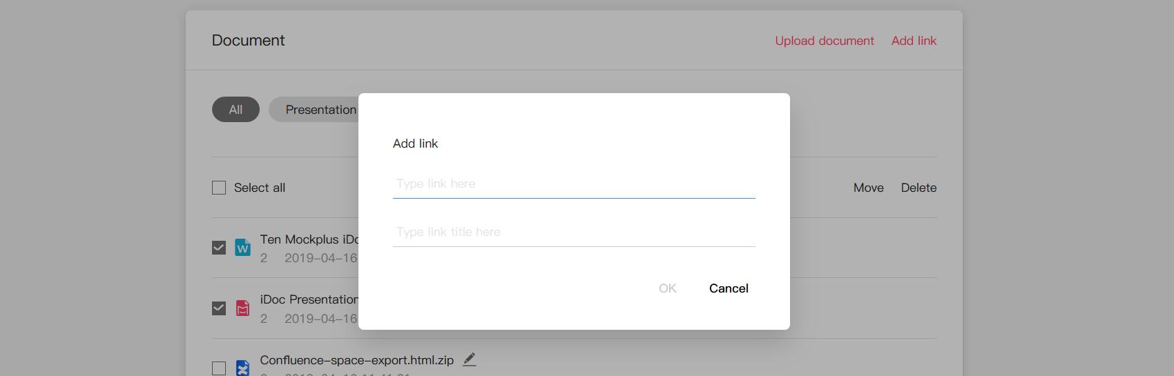 Add design links for better management
