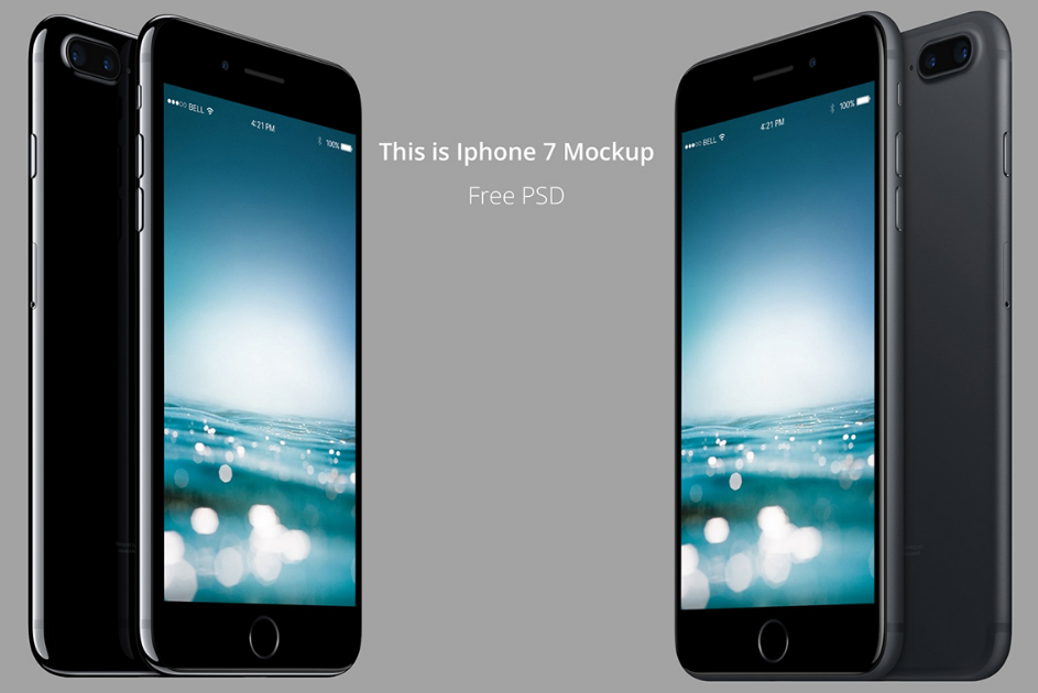 iPhone 7 Mockup PSD Free download