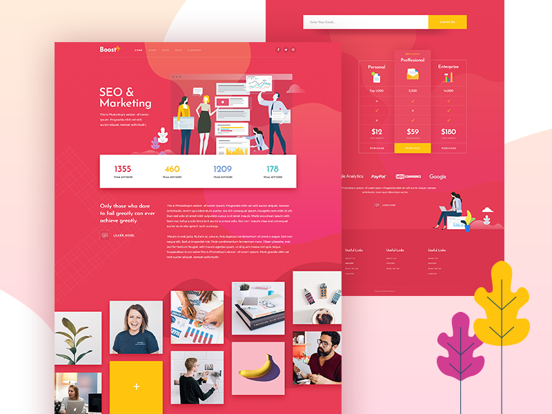 BoostUp - SEO Marketing Agency Theme Responsive Web Mockup