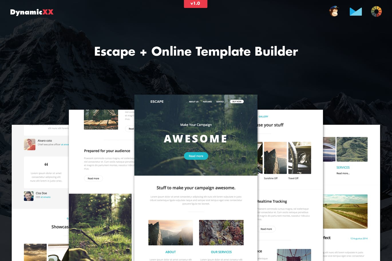 Escape – Free Responsive Email + Template Builder