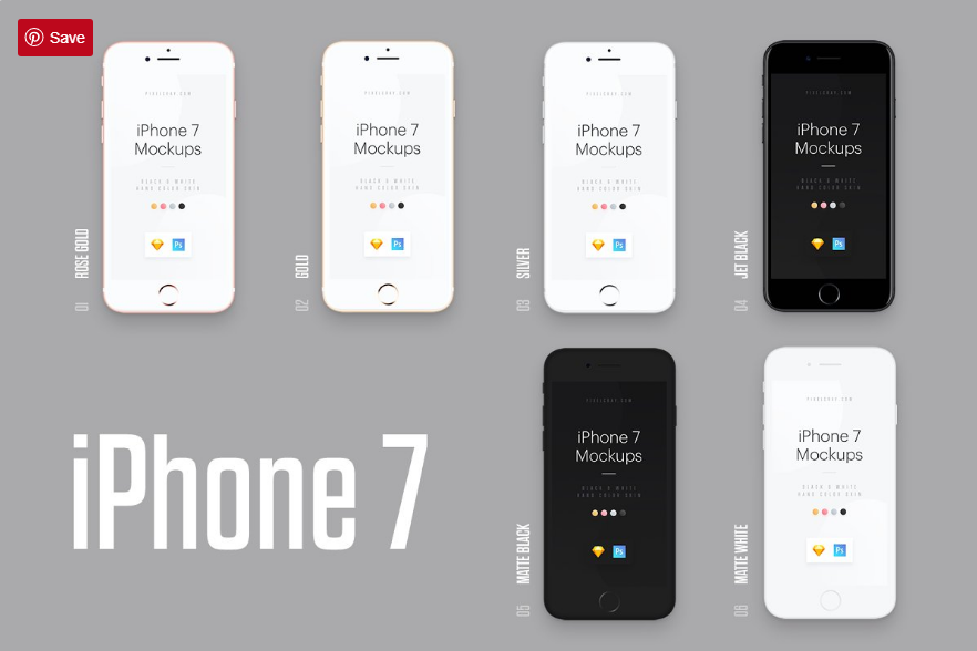 Unicolor and B / W Hands Mockups