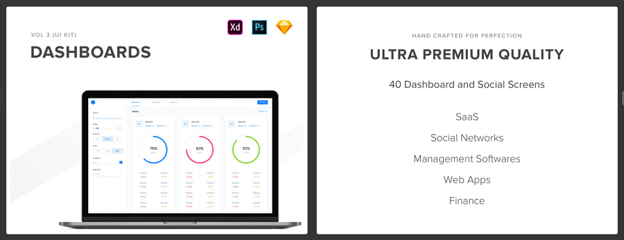 Top 50 Dashboard UI Kits and Templates in 2019