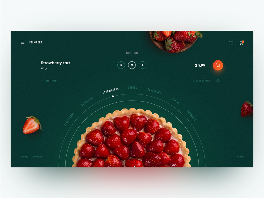 Website design inspiration – PiemakerFood Constructor Concept