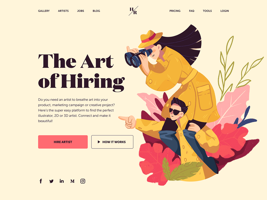 Hiring Artists Website Design