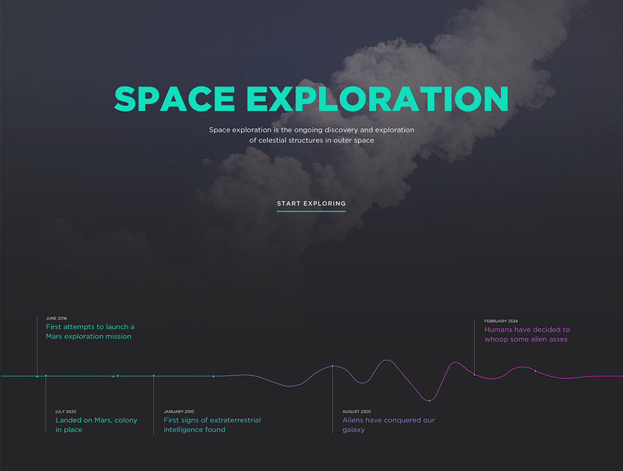 Space Exploration Web Template