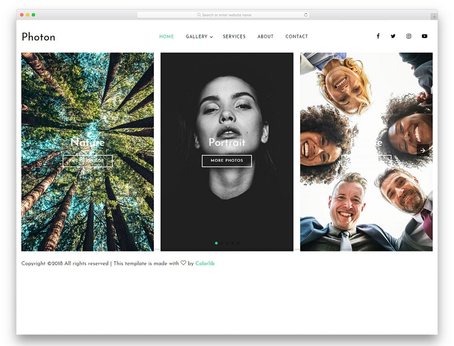 Photon - Free HTML Photo Website Template