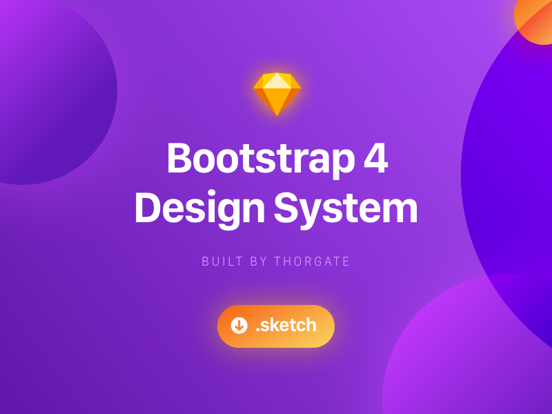 Bootstrap Design System - Sketch Freebie