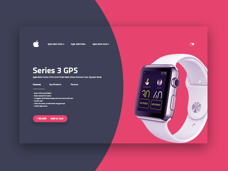 Series 3 Apple Watch Cart Page Design