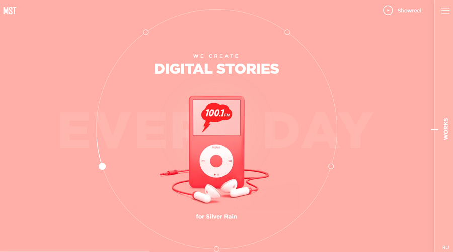Website design inspiration – MST –We create digital stories