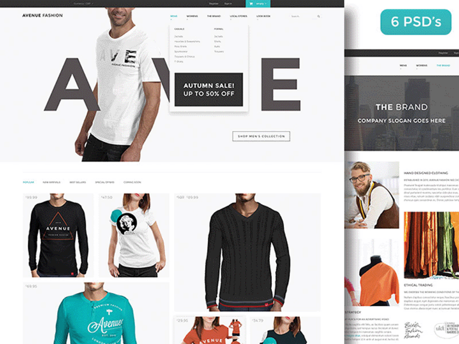 Avenue Fashion - Free PSD ecommerce template
