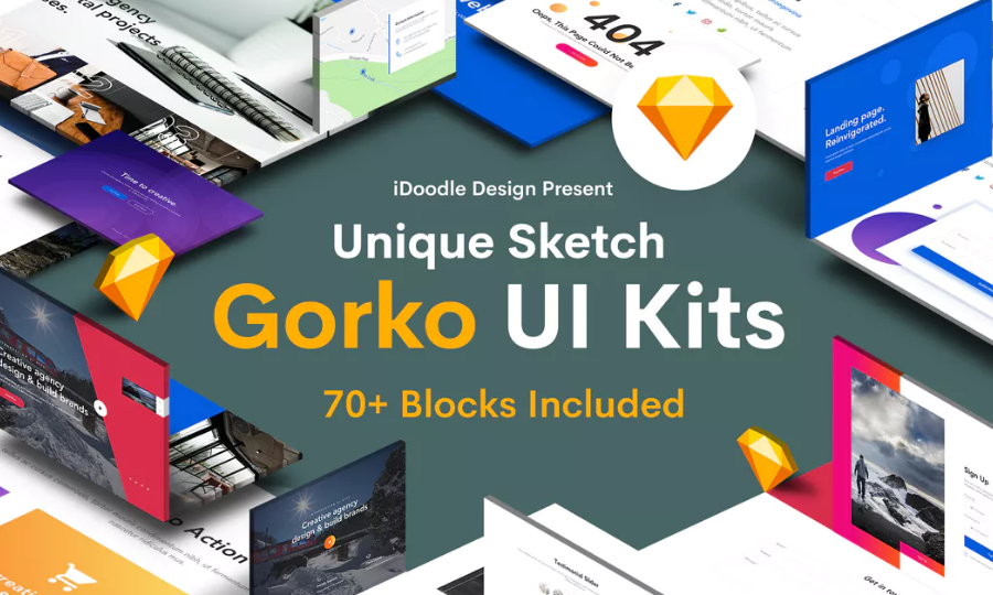 Gorko - Creative UI Kits Sketch Template