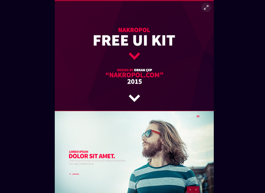 Nakropol - Free UI Kit (Web / Mobile)