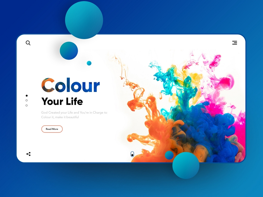 Colour your Life: - Landing page