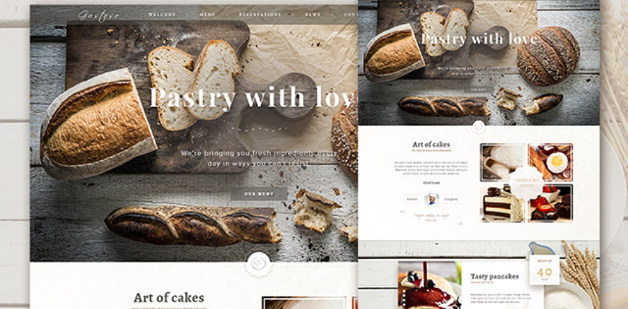 Bakery - Free responsive PSD website template