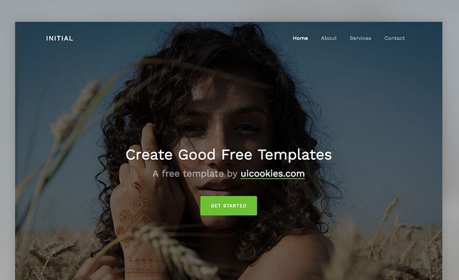 Initial – Free Bootstrap 4 Template for Creative People