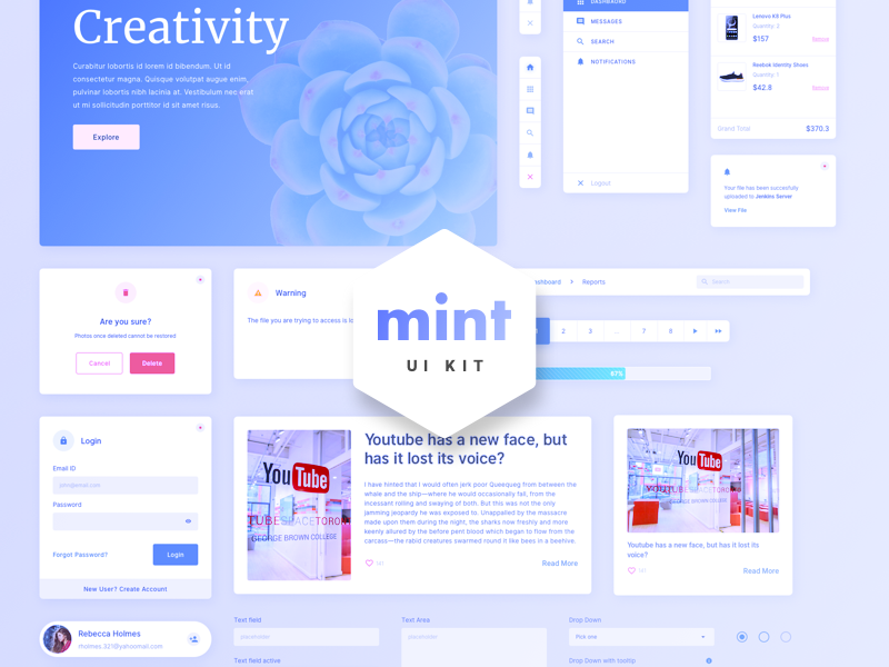 Mint-Free Sketch Web UI Kit