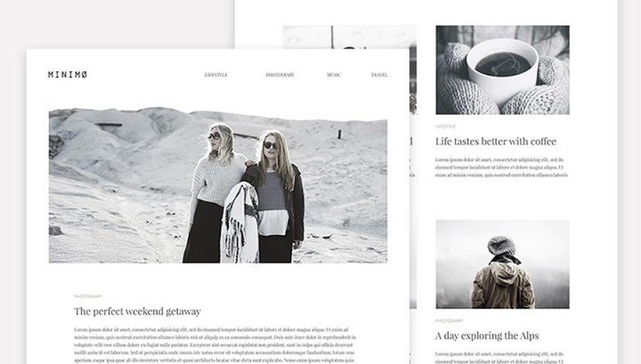 Minimo: A minimal blog template