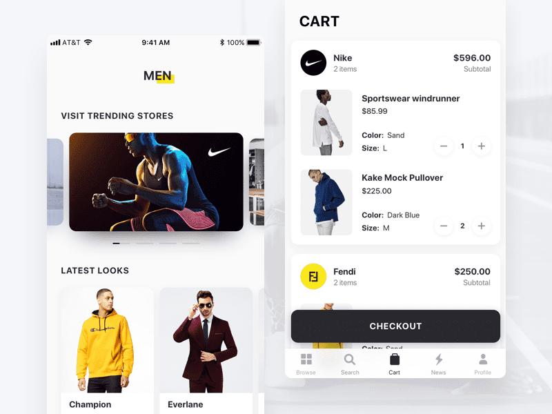 Fashion & Shopping App cart