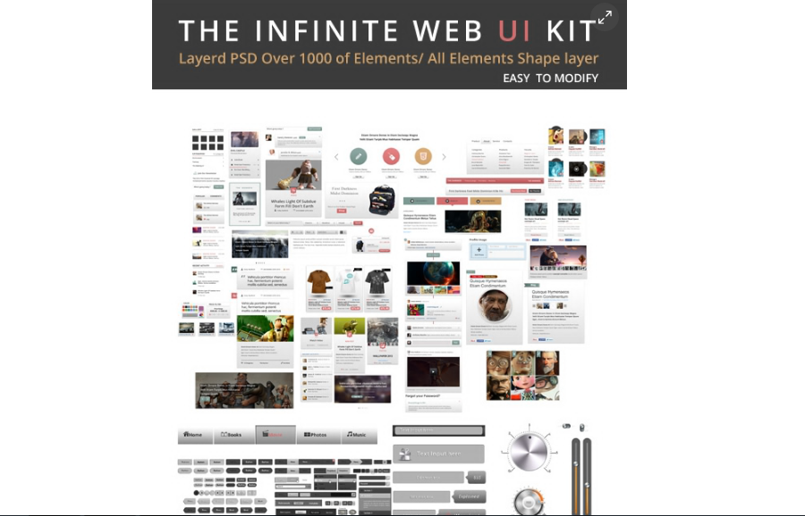Free The infinite Web UI Kit