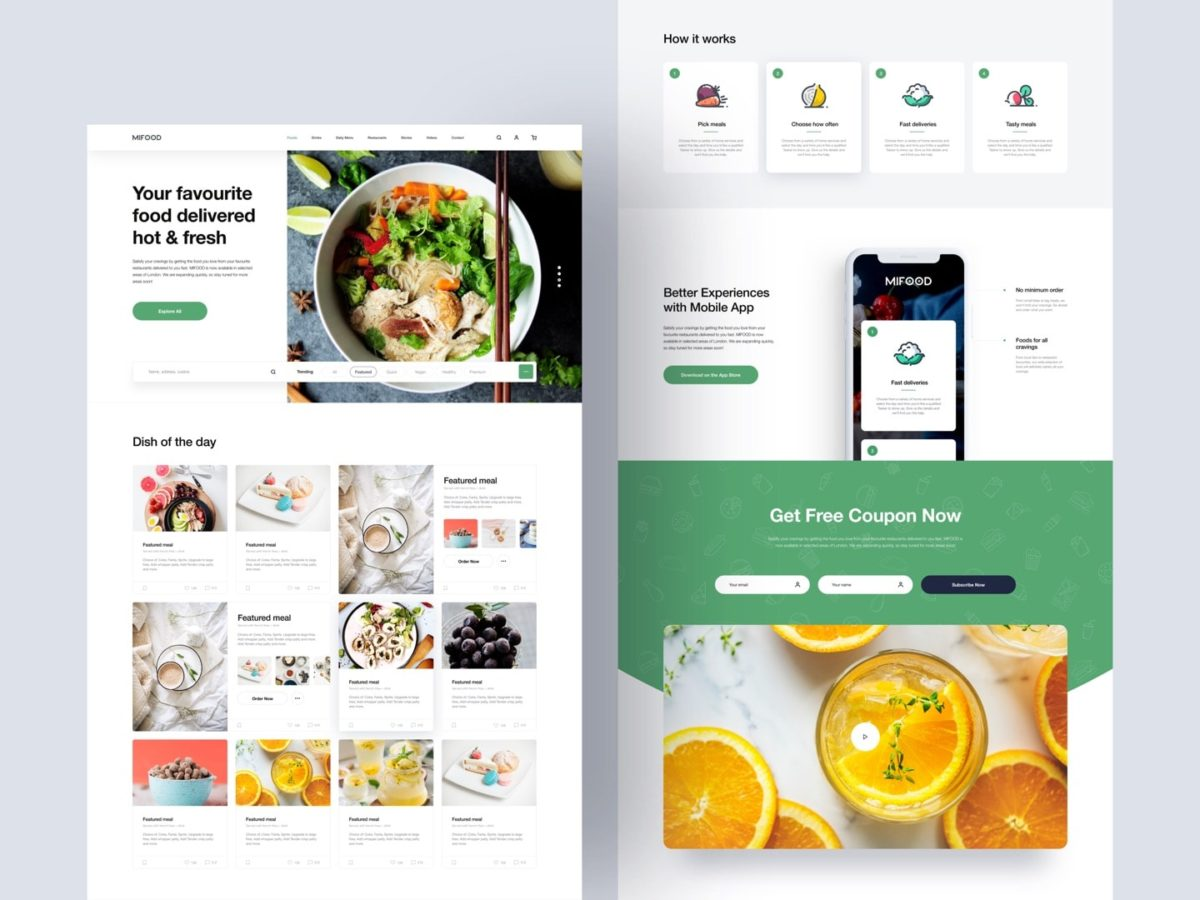 Mi Food - Sketch Template