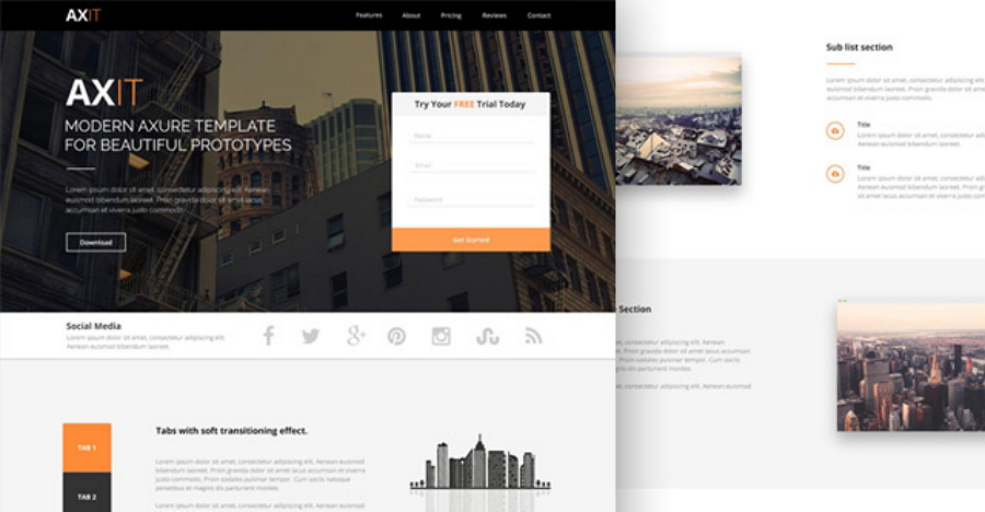 Axit – PSD Landing page