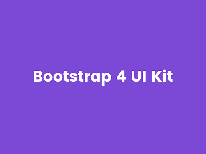 Adobe XD Bootstrap 4 UI Kit