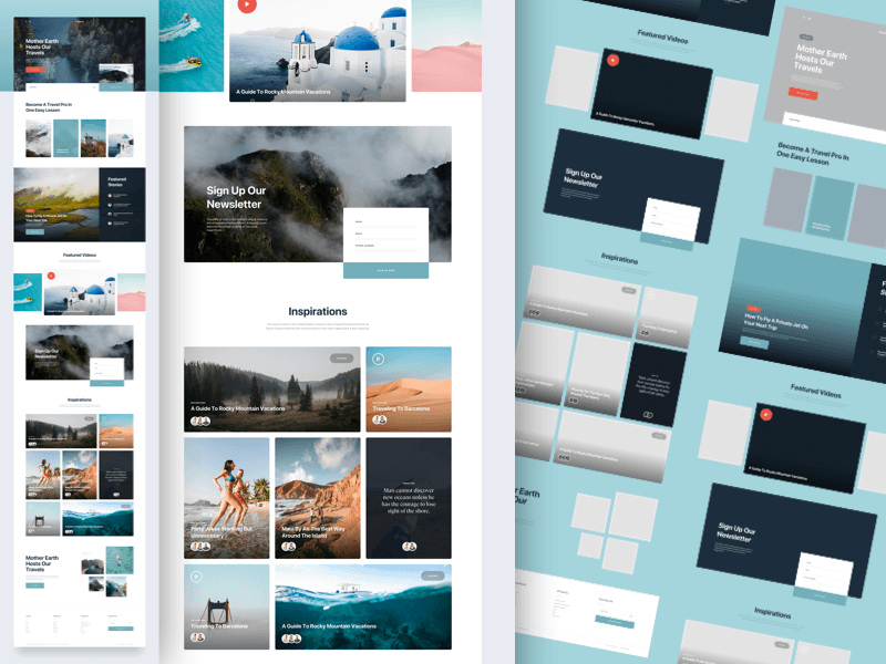 MI travel web template Sketch resource