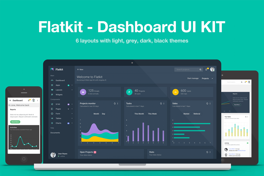 Flatkit - Dashboard UI KIT