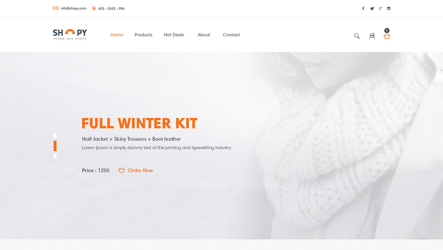Shopy - Ecommerce PSD web templates