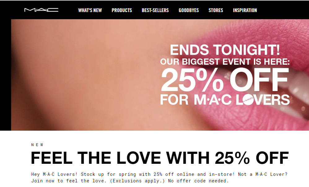Mac sales information