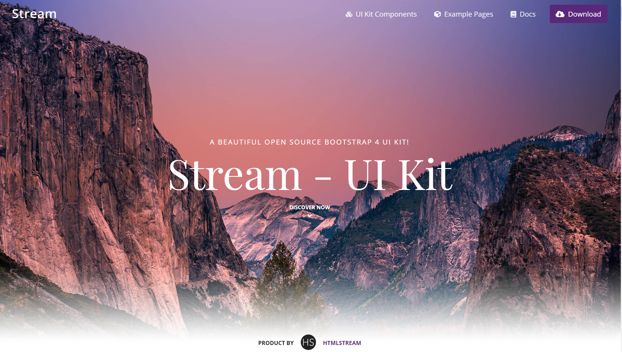 Bootstrap UI kit- Stream