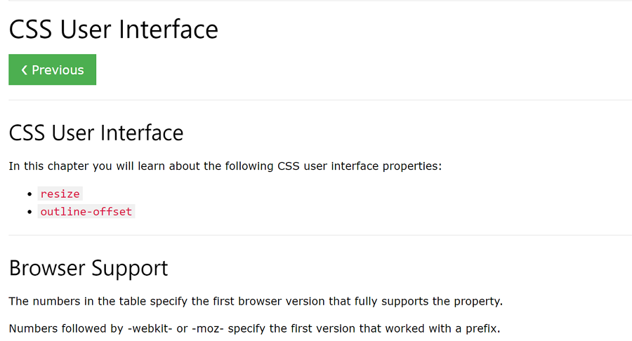 CSS-user-interface