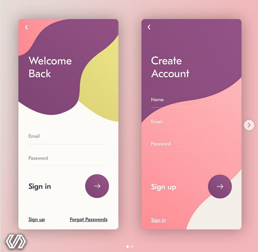 Signin & Signup app design