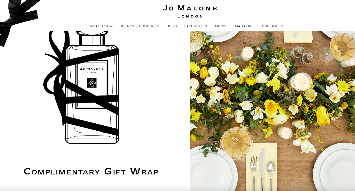 perfume ecommerce website design