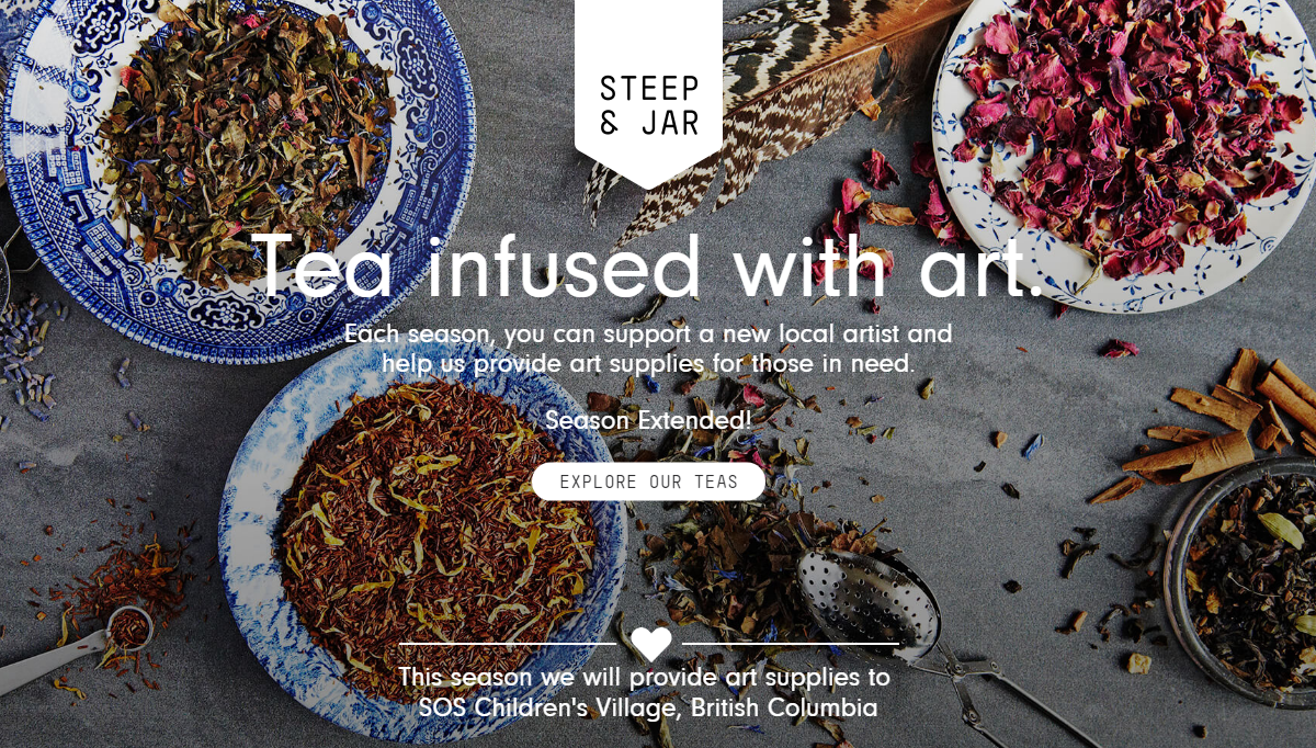 Steep & Jar ecommerce website