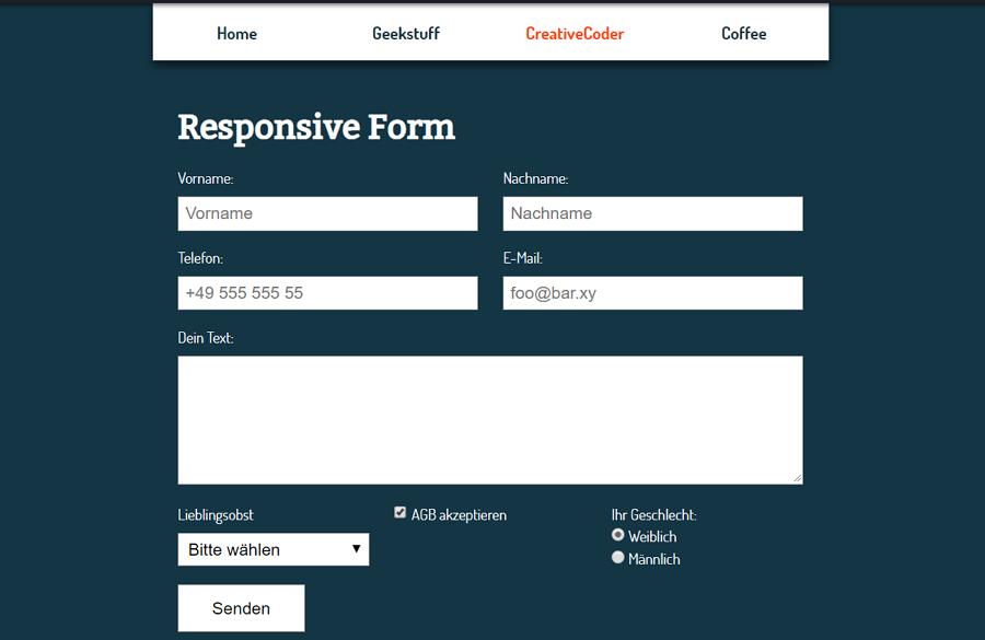 Responsive Grid-Based Form