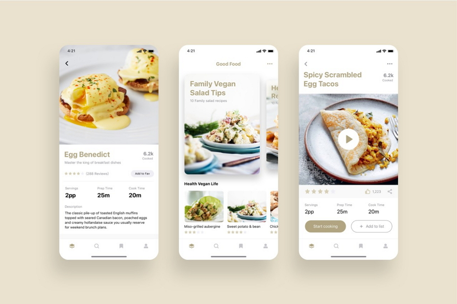 Good Food Recipes App UI Kit