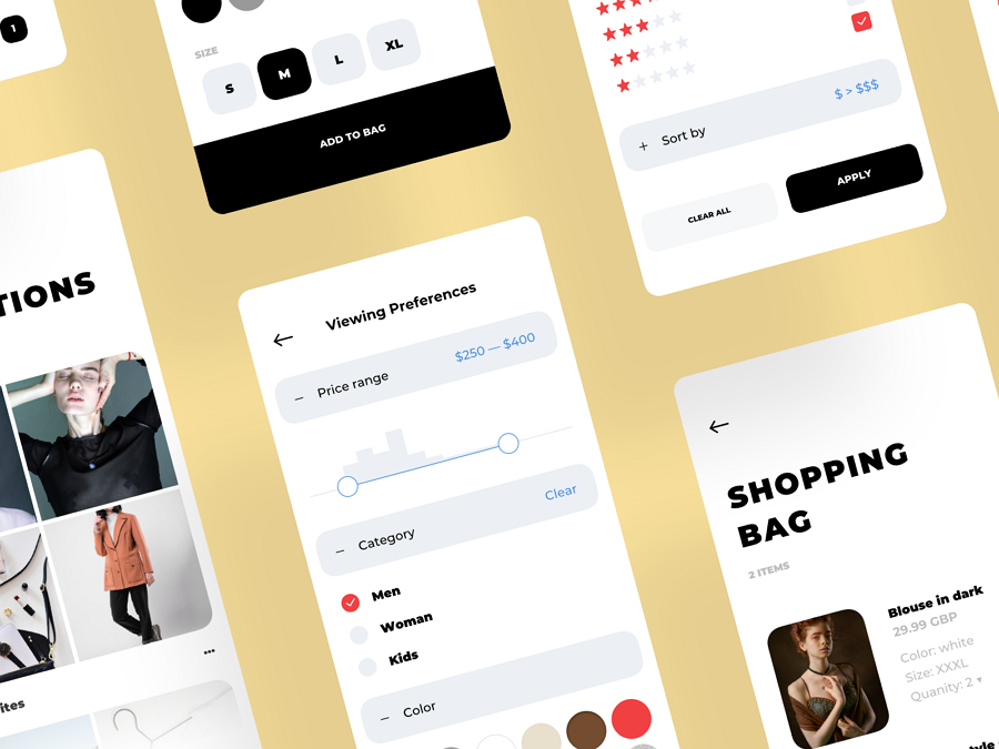 Fashion Shop Clean and Trending Mobile UI Kit