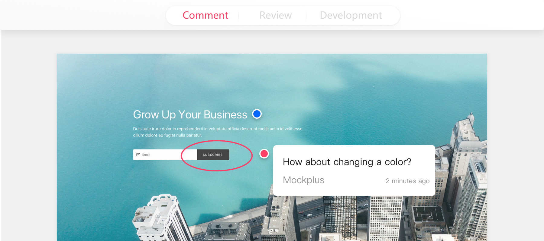 Comment - Offers rich comment tools