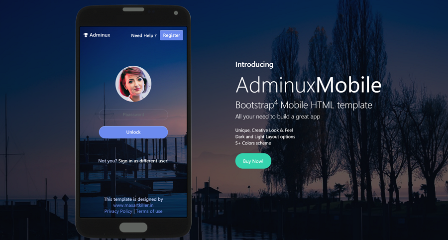 Aminux-mobile-responsive-html-template