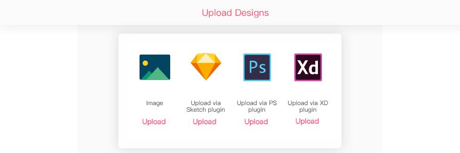 Upload designs