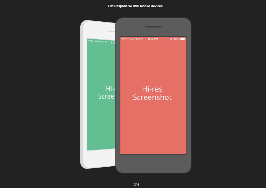 Flat Responsive Mobile Devices