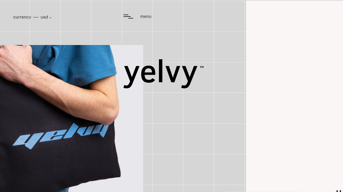 Yelvy clean website design