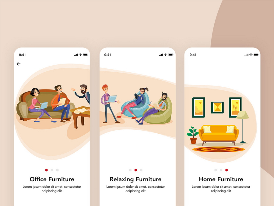 Furniture Design UI Kit