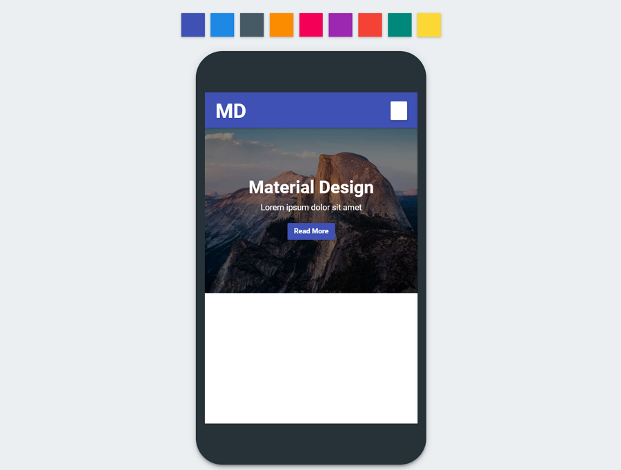 Md-material-design-mobile-template