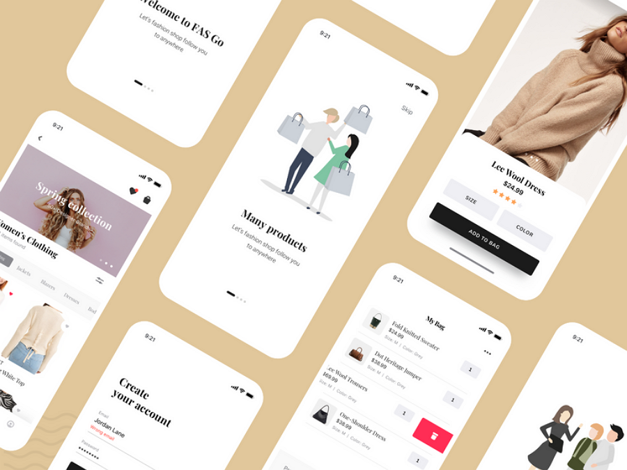 Fashion-app-design